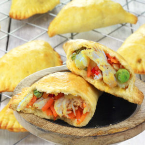 Baked Chicken Empanada in Flaky Crust